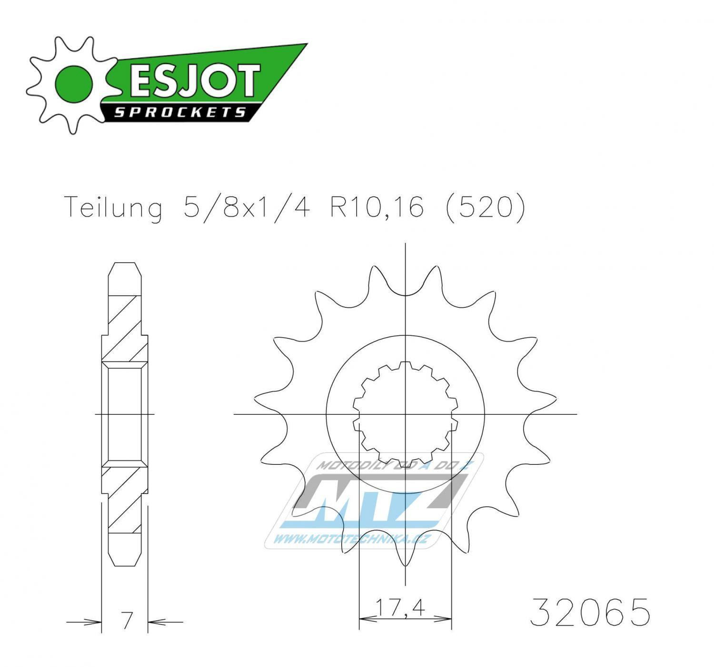 Kolečko řetězové 50-32065-13 ESJOT