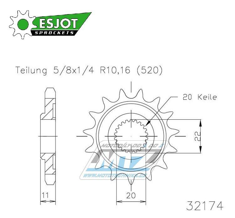 Kolečko řetězové 50-32174-13 ESJOT
