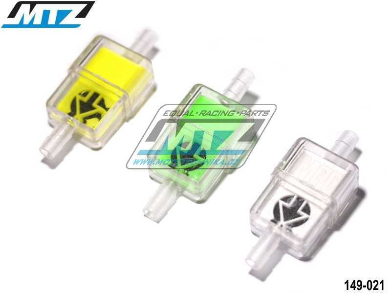 """Filtr palivový/benzínový - průměr 1/4"""" (6mm) - délka 2"""" (51mm) - plastový"""