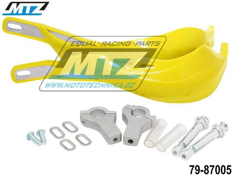 Booster PRO ALU s hliníkovou výztuhou + montážní sada 22mm - žlutý