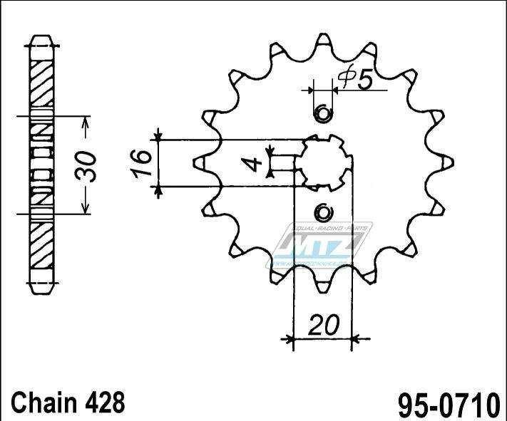 Řetězové kolečko MTZ - 95-0710-15
