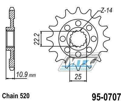 Řetězové kolečko MTZ - 95-0707-14