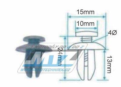 Klip/Nýt kapoty 15x10x24x13mm