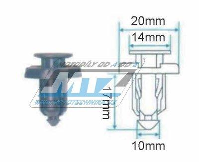 Klip/Nýt kapoty 20x14x17x10mm