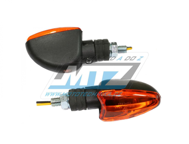 Blinkry Mini (tvar šipka/slza) - barva černá s oranžovým krycím sklem