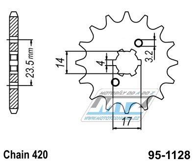 Kolečko řetězové 1128-14