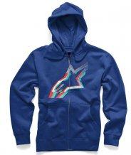 Mikina Alpinestars Zip Hoody Glitch Blue a1d05caa5d
