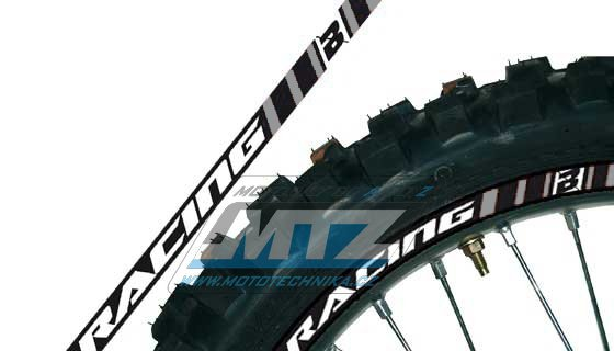Polepy ráfků (přední+zadní kolo) Blackbird RACING - šedé