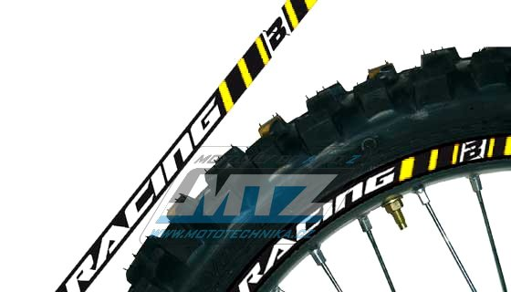 Polepy ráfků (přední+zadní kolo) Blackbird RACING - žluté