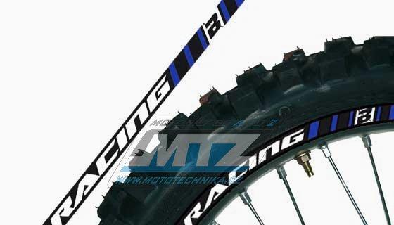 Polepy ráfků (přední+zadní kolo) Blackbird RACING - modré