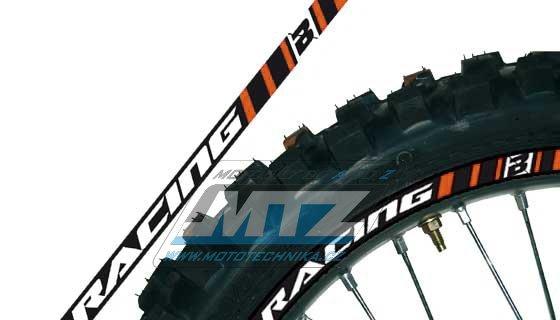 Polepy ráfků (přední+zadní kolo) Blackbird RACING - oranžové