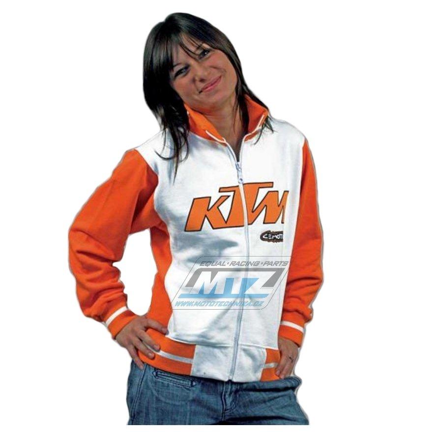 Mikina Cemoto KTM oranžovo bílá velikost XXL