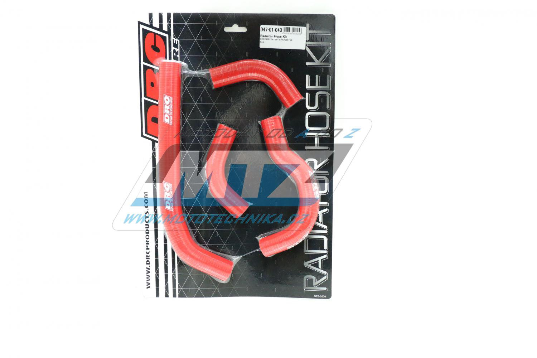 Hadice chladiče Honda CRF250R / 04-09 + CRF250X / 04-17 červené (sada 4ks)