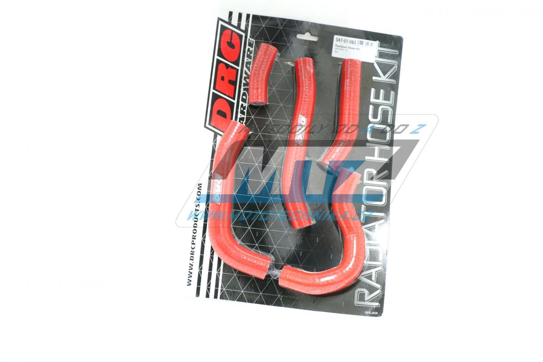 Hadice chladiče Honda CRF250R / 14-15 červené (sada 5ks)