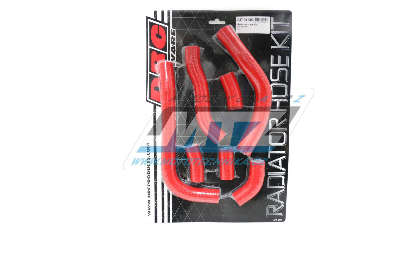 Hadice chladiče Honda CRF450R / 09-12 červené (sada 7ks)