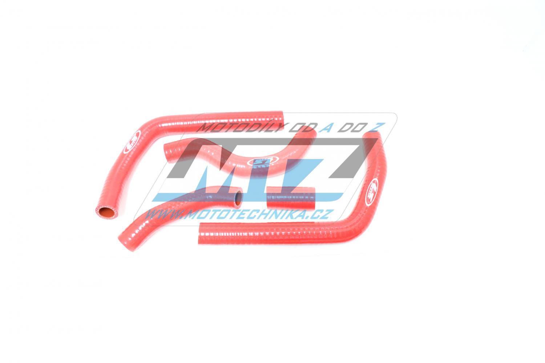 Hadice chladiče Honda CR125 / 05-07 červené (sada 5ks)