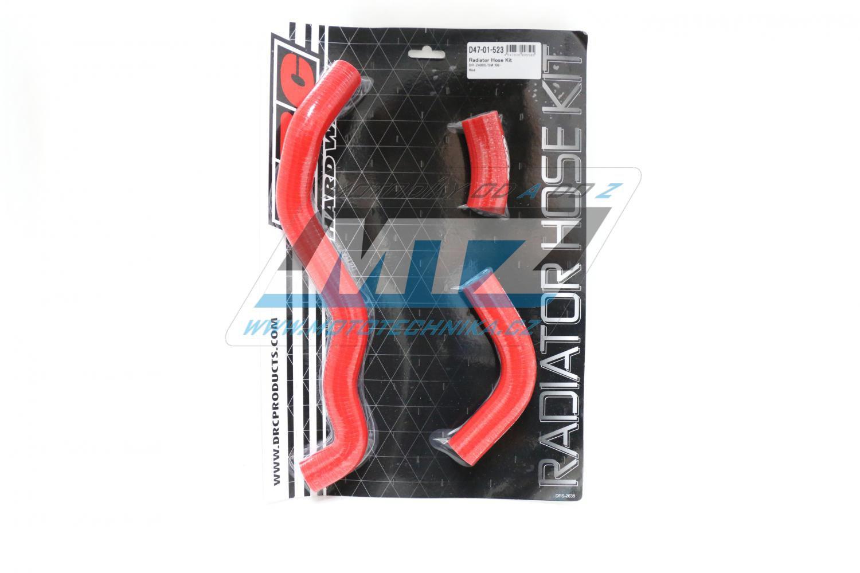 Hadice chladiče Suzuki DRZ400 / 00-16 - barva červená (sada 3ks)
