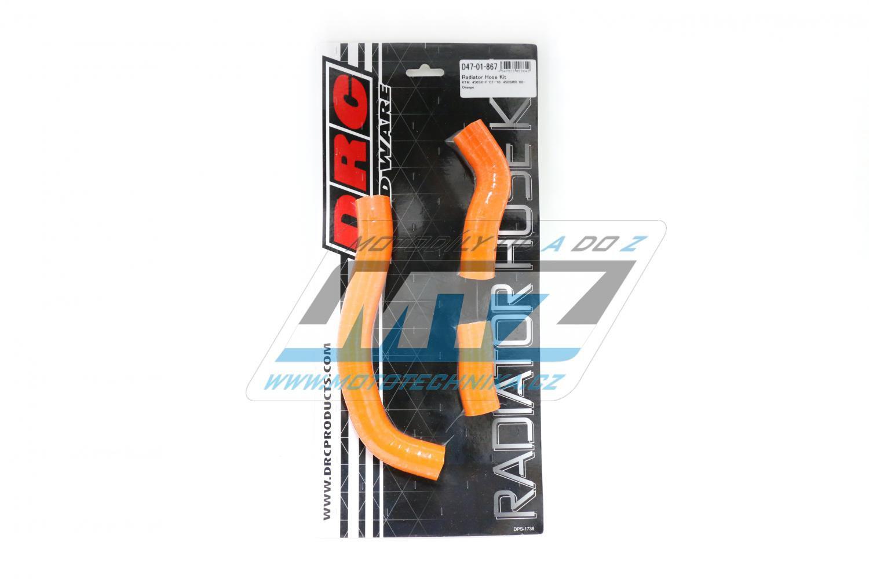 Hadice chladiče KTM 450SXF / 07-10 + 450SMR / 08-10 oranžové (sada 3 ks)