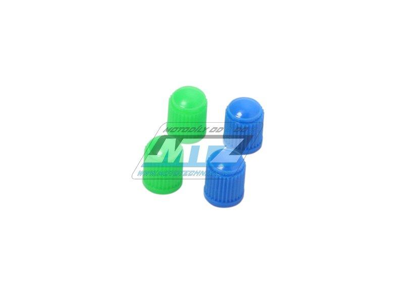 Čepičky ventilku 4 ks (modré+zelené)