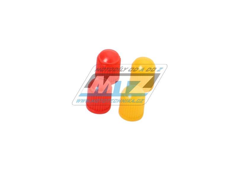 Čepičky ventilku 4 ks (žluté+červené)