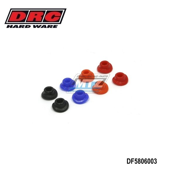 Podložky ventilku gumové červené