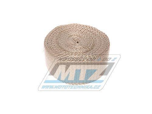 Páska izolační na výfuk 50mm / délka 10m (1200°C) mosaz