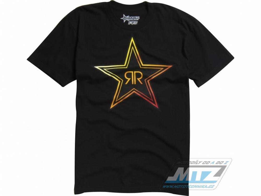 Tričko FOX ROCKSTAR Fades černé XL