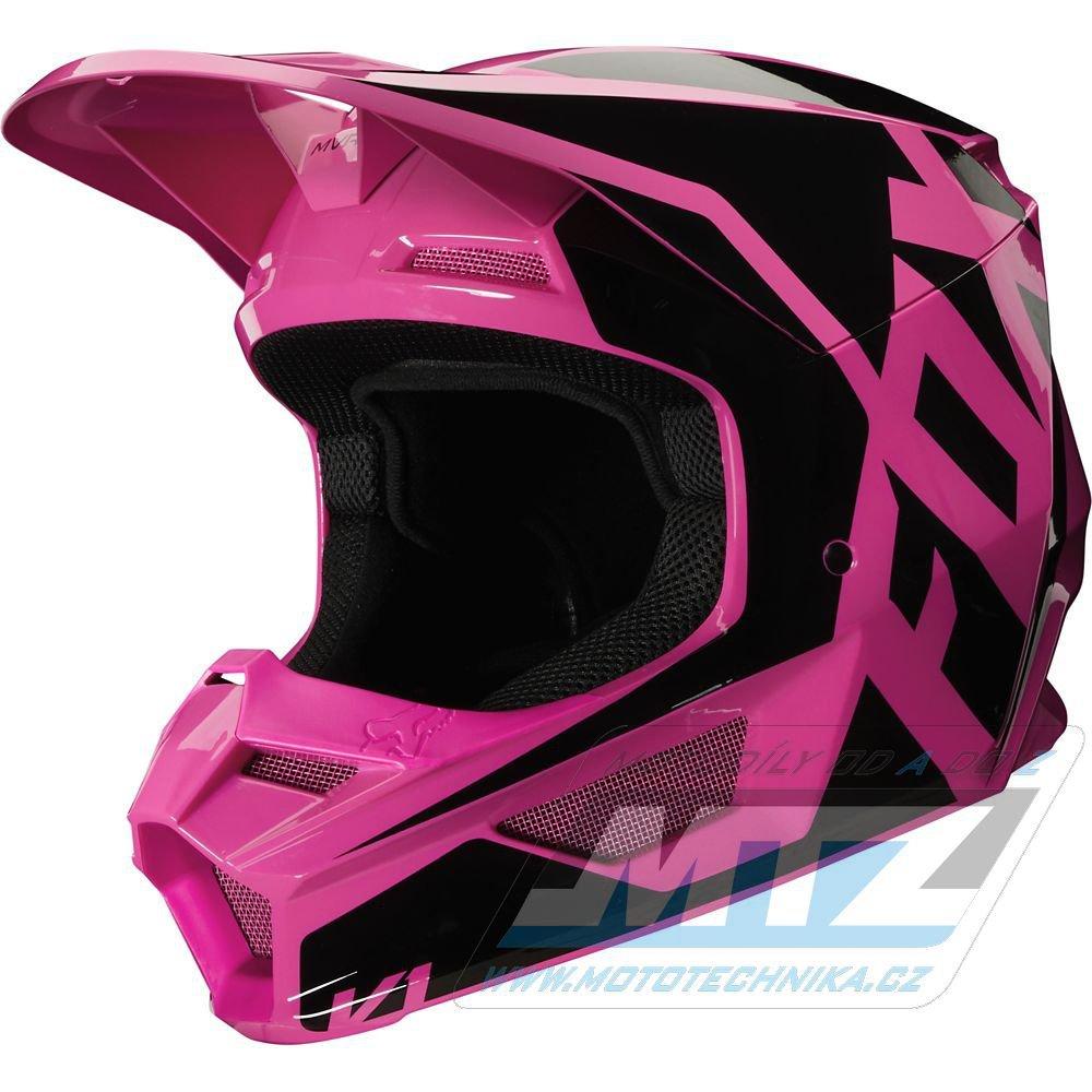 Přilba FOX V1 Prix Helmet MX20 - růžová (velikost L)