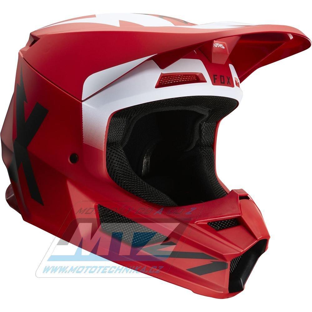 Přilba FOX V1 WERD Helmet MX20 - červená (velikost XS)