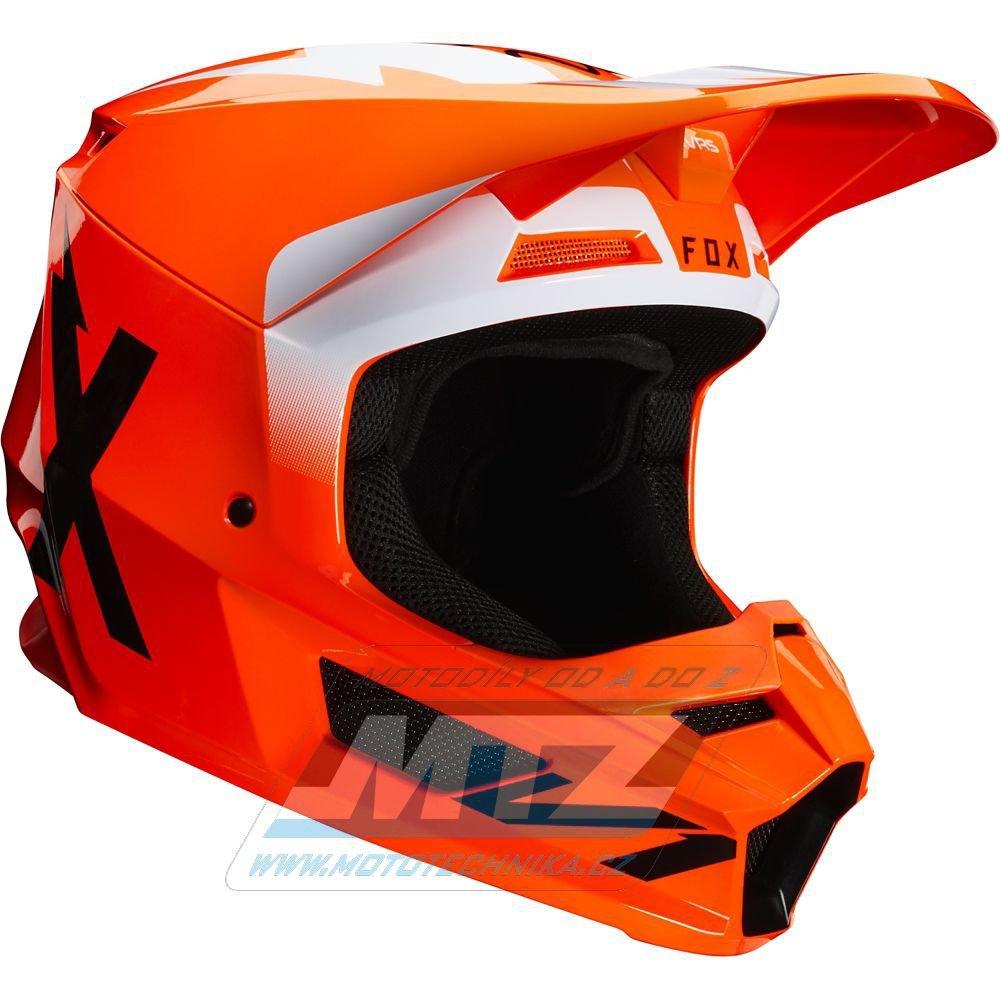 Přilba FOX V1 WERD Helmet MX20 Orange Fluo - oranžová (velikost L)