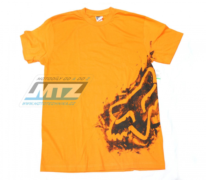 Tričko FOX Scribble oranžové L
