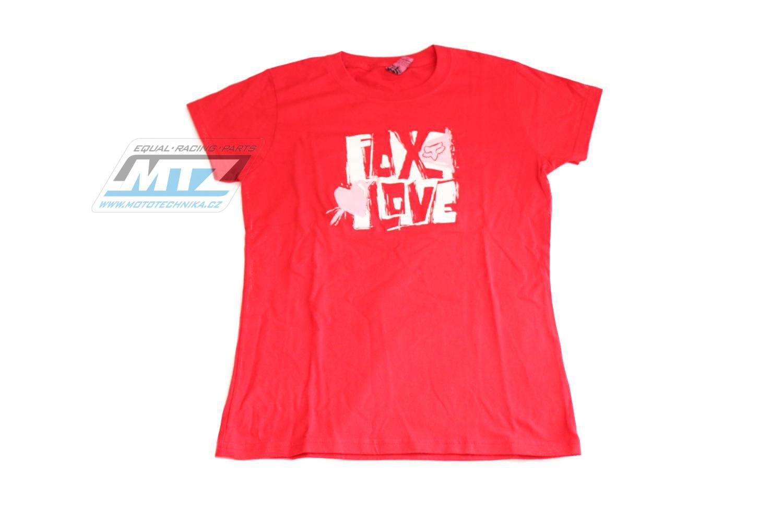 Tričko dámské FOX červené