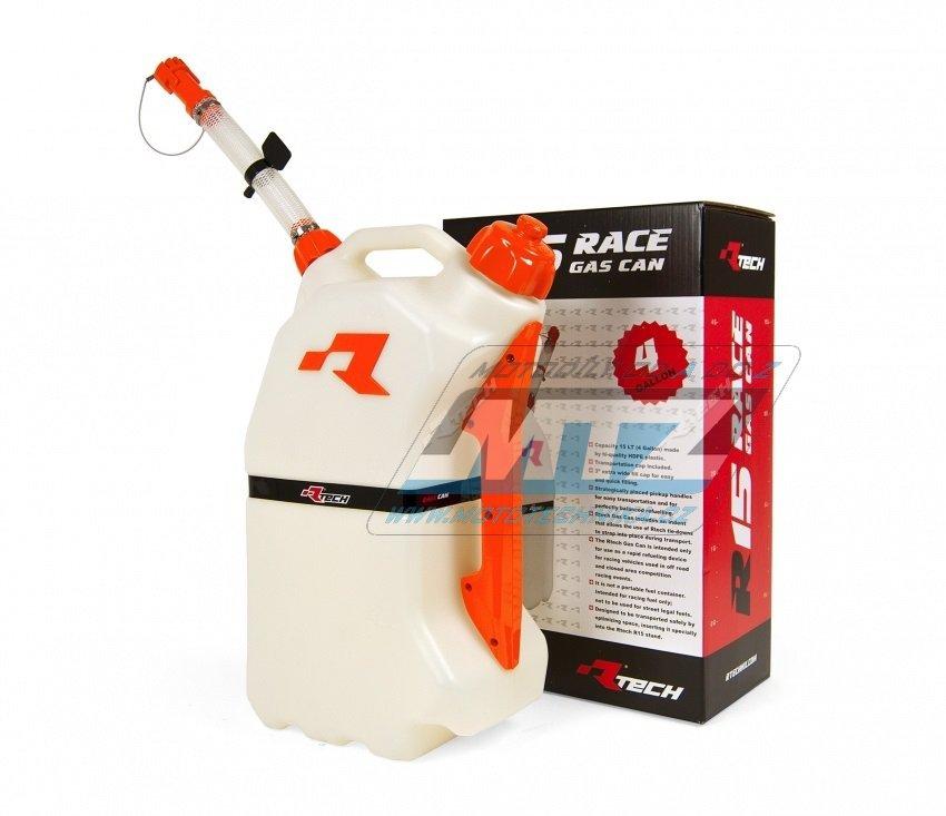 Kanystr rychlotankovací benzínu RTECH GAS CAN - 15L - oranžový