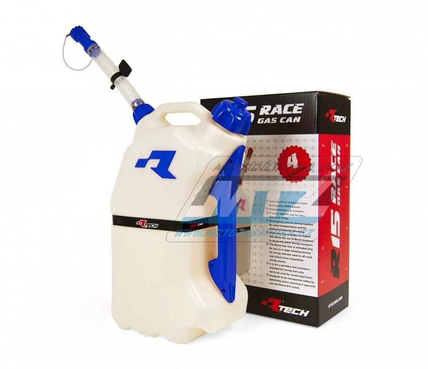 Kanystr rychlotankovací benzínu RTECH GAS CAN - 15L - modrý