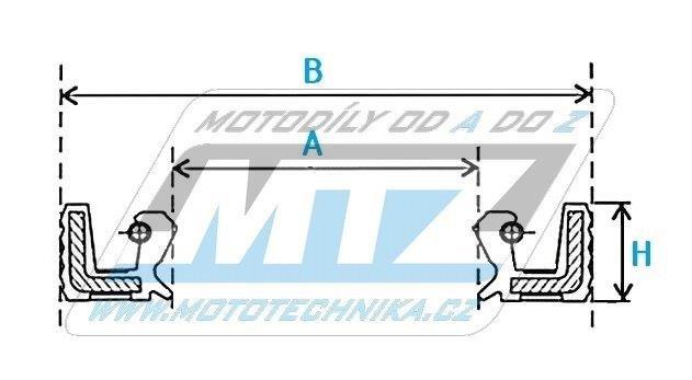 Gufero/Simerink motoru NOK/ARS (rozměry: 26x37x7mm)