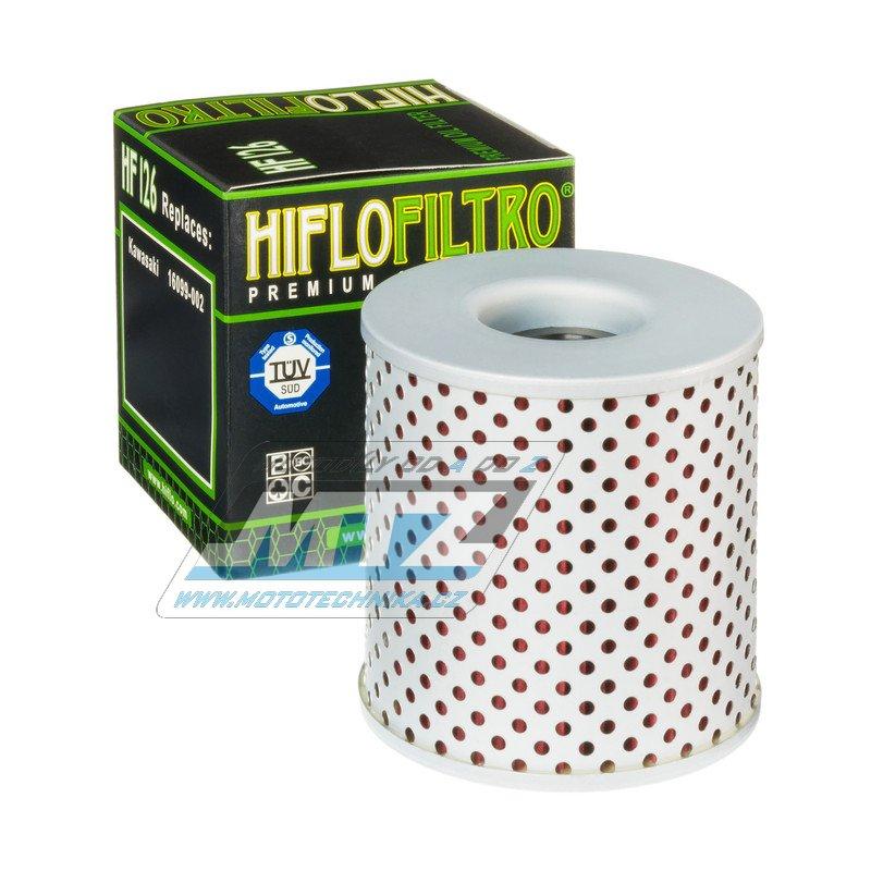 Filtr olejový HF126 (HifloFiltro) - Kawasaki Z750D+Z750+Z900Z+KZ1000+KZ1000B+KZ1000C+KZ1000D+KZ1000E+Z1000+KZ1300A+KZ1300B+ZN1300A Voyager