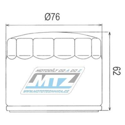 Filtr olejový HF160  (MTZ)
