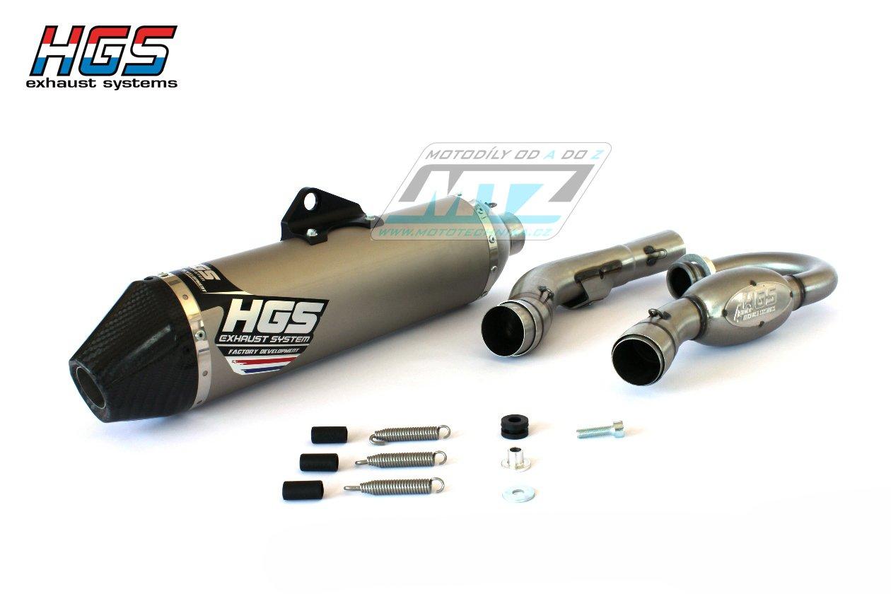 Výfuk kompletní (výfukový systém) HGS - Kawasaki KXF250 / 16-17