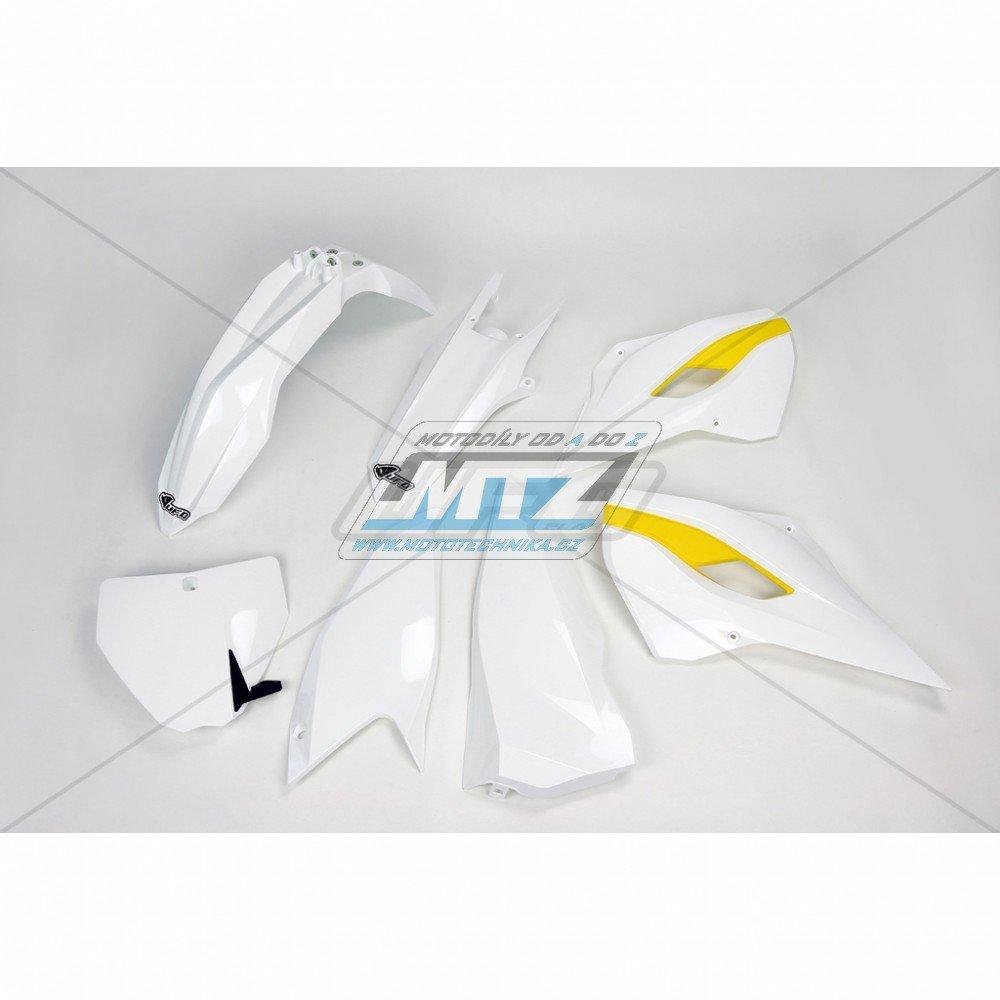 Sada plastů Husqvarna TC125+250 + FC250+350+450 / 14-15 - originální barva / bílá