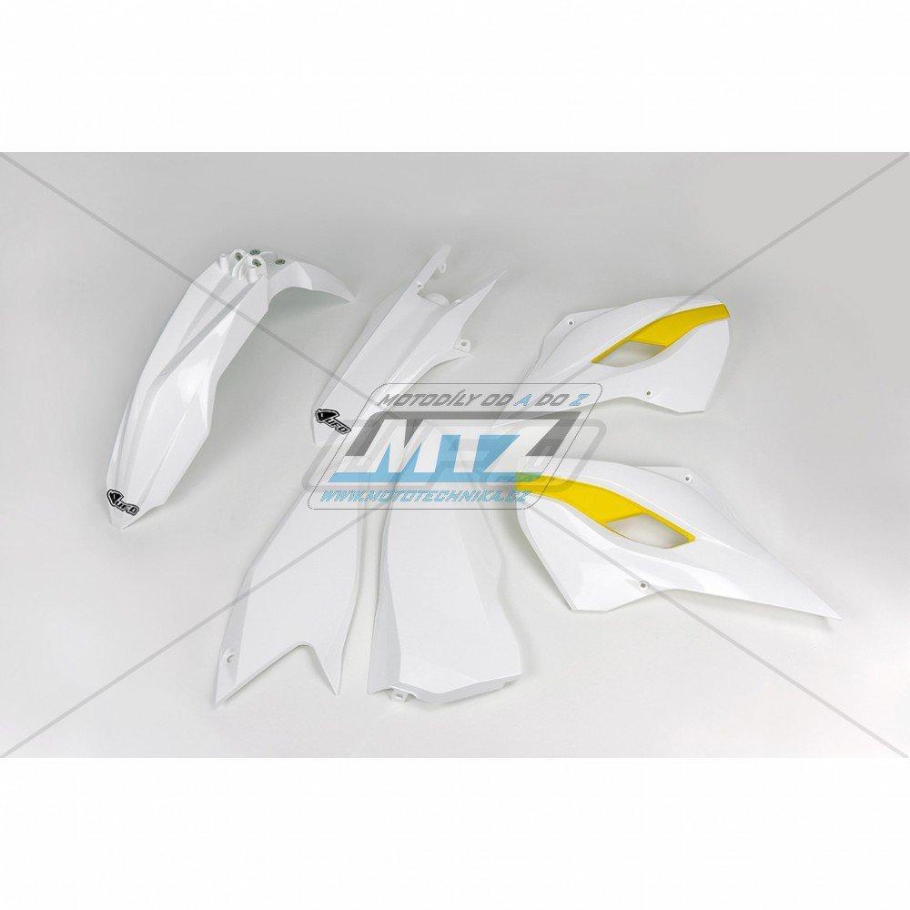 Sada plastů Husqvarna TE125+250+300 + FE250+350+450+501 / 15-16 - originální barva / bílá