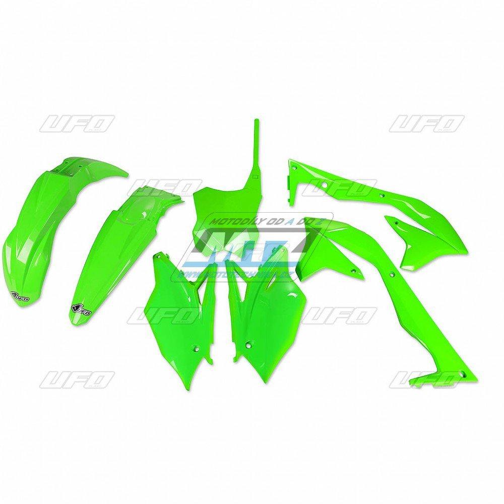 Sada plastů Kawasaki - KXF450 / 16-17 - zelená fluo