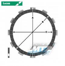 Lamely spojkové třecí (s obložením) Lucas MCC403-5 - Beta RR125 + CH 5b90a3ff34