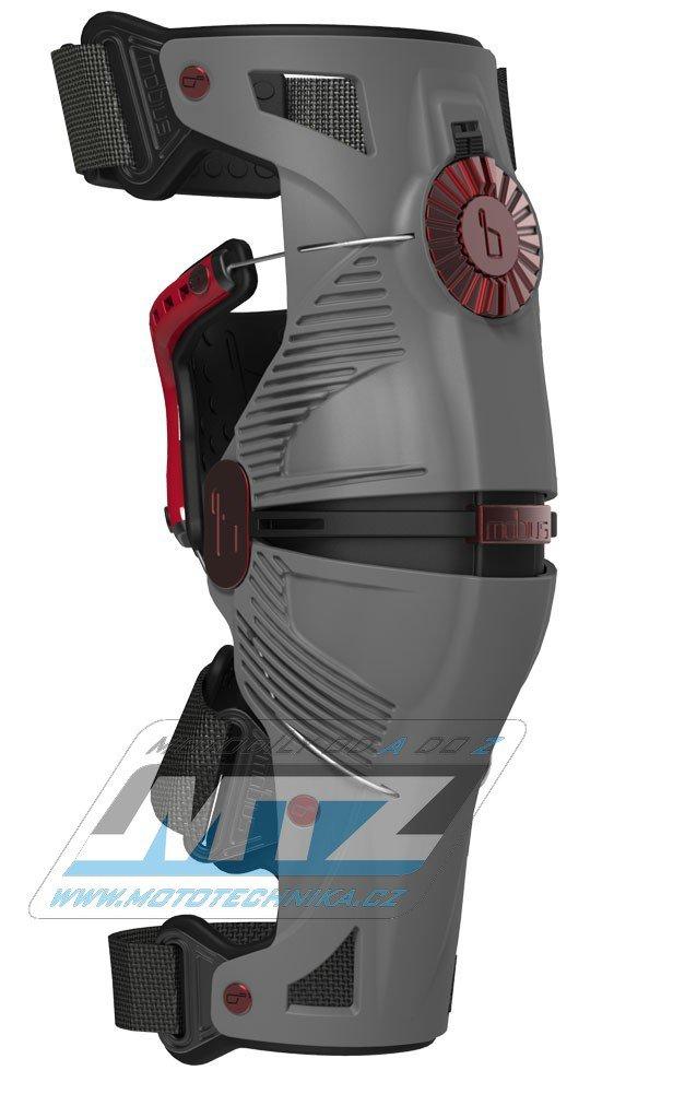 Chrániče kolen (kolenní ortézy) MOBIUS X8 Knee Brace (sada=pár) - šedé - velikost L