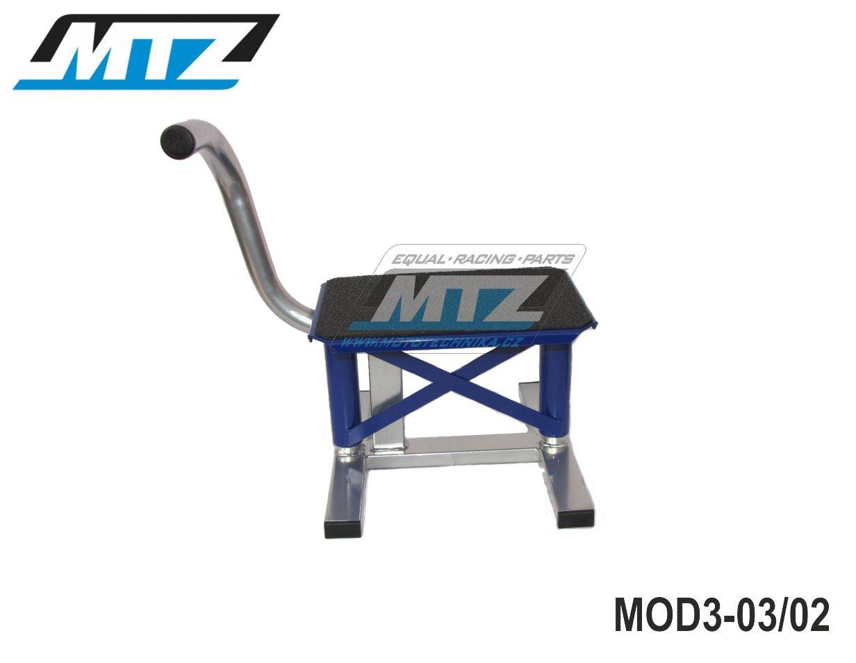 Stojánek pod motocykl - model Transalp/Afrika + Supermoto - modrý