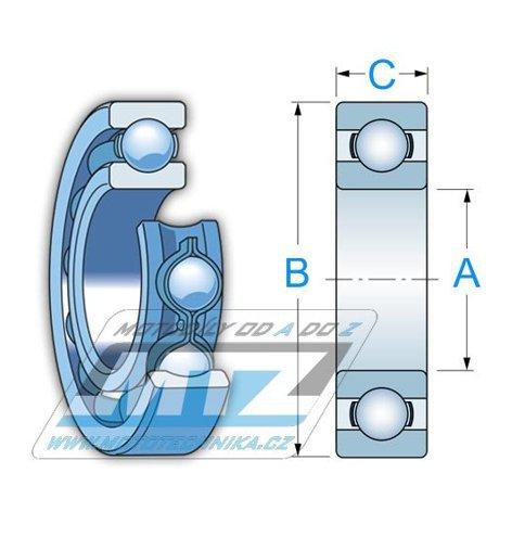 Ložisko 62/22-2RS (rozměry: 22x50x14 mm) Koyo
