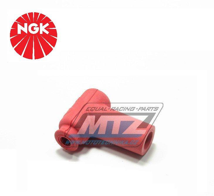 Fajfka/Botka NGK LB05EMH - 90° / 5 kOhm / pro svíčku s koncovkou - provedení silikonová - červená