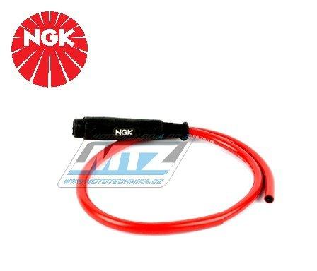 Fajfka/Botka NGK SD05FM s kabelem 0,5m kompletní - přímá / 5 kOhm / pro svíčku bez koncovky (na závit) - provedení silikonová