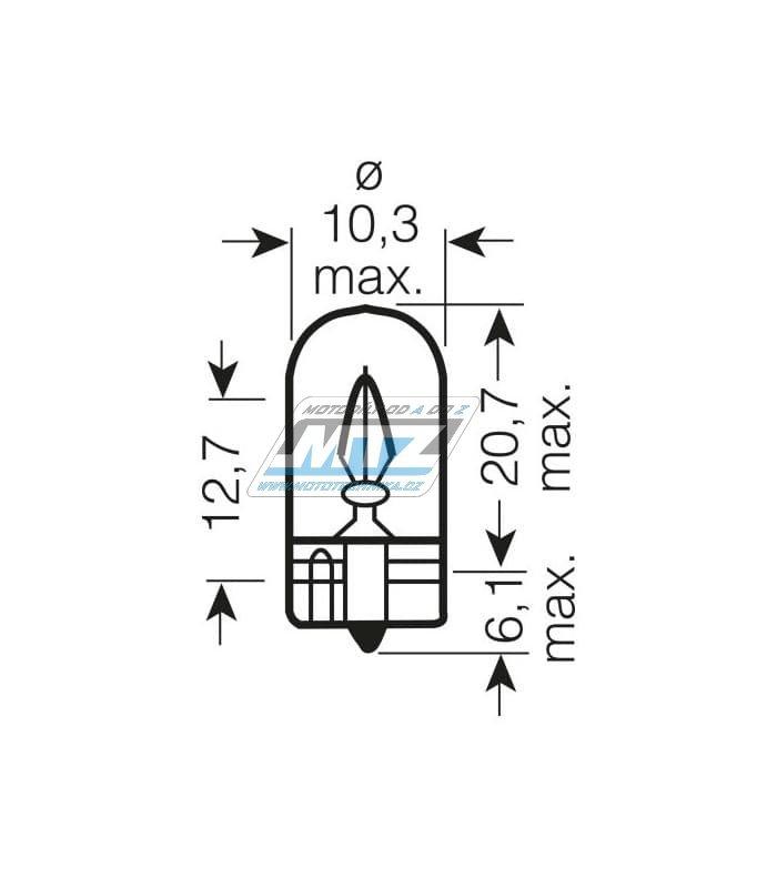 Žárovka 12V 5W W2.1 X 9.5
