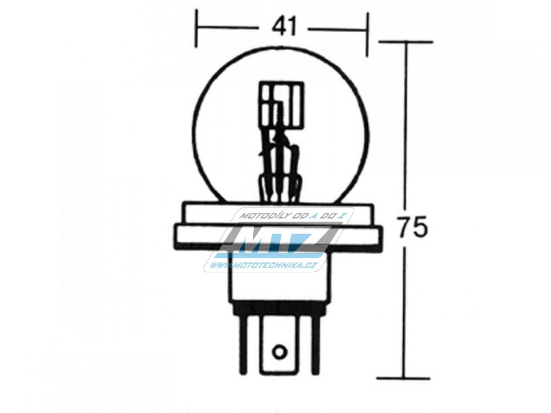Žárovka 12V 45/40W P45T