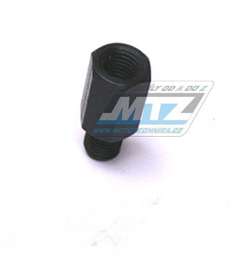Adaptér zrcátka 10mm Levý závit vnější / 10mm Pravý závit vnitřní (barva černá)